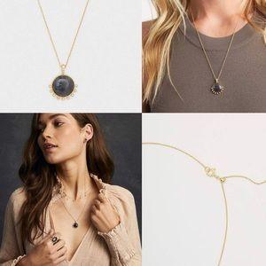 Gorjana Gold and blue necklace